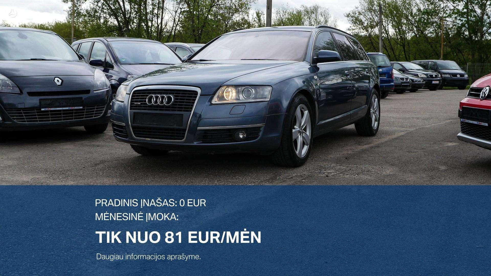Audi A6 išsimokėtinai nuo 81Eur/Mėn ir su 3 mėnesių garantija