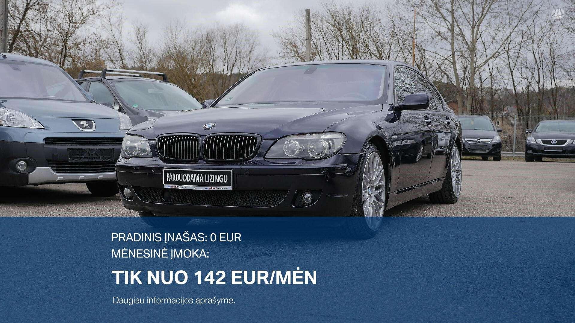 BMW 745 išsimokėtinai nuo 142Eur/Mėn su 3 mėnesių garantija