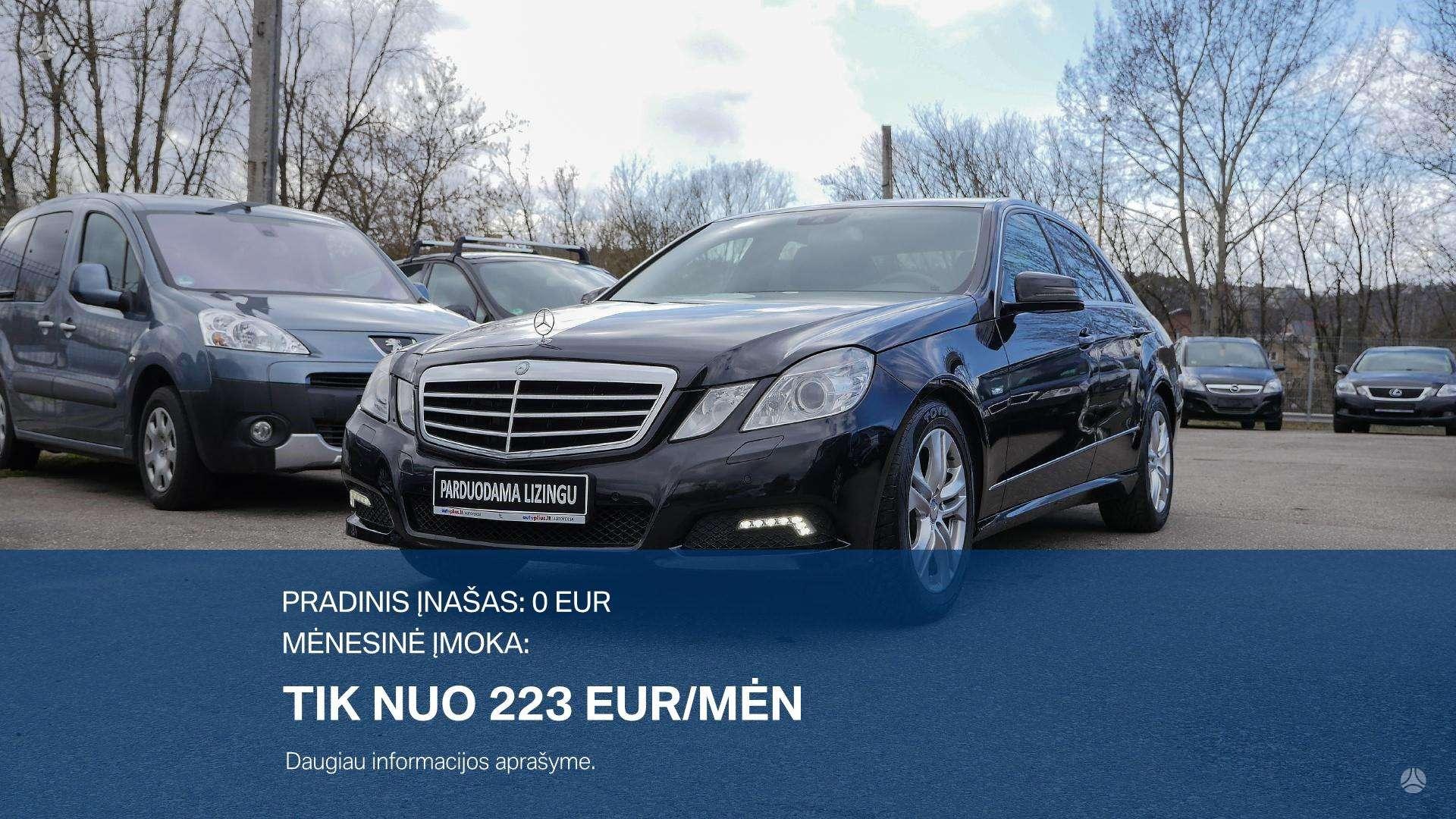 Mercedes-Benz E350 išsimokėtinai nuo 223 Eur/mėn su 3 mėnėsių garantija