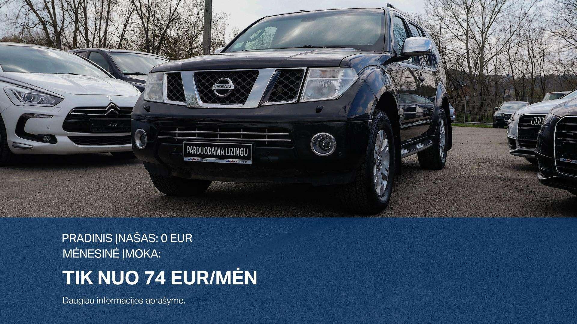 Nissan Pathfinder išsimokėtinai nuo 74Eur/ mėn su 3 mėnesių garantija