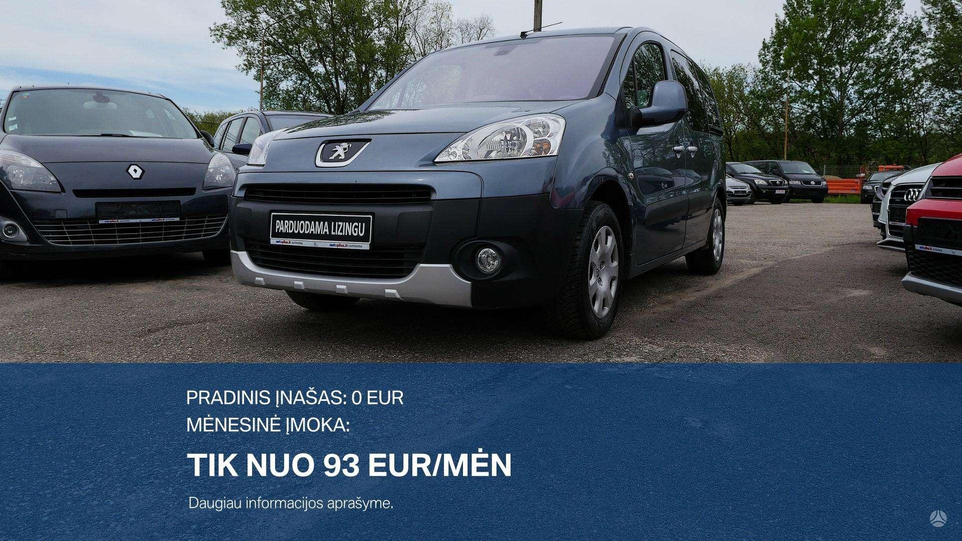 Peugeot Partner išsimokėtinai nuo 93Eur/Mėn su 3 mėnesių garantija