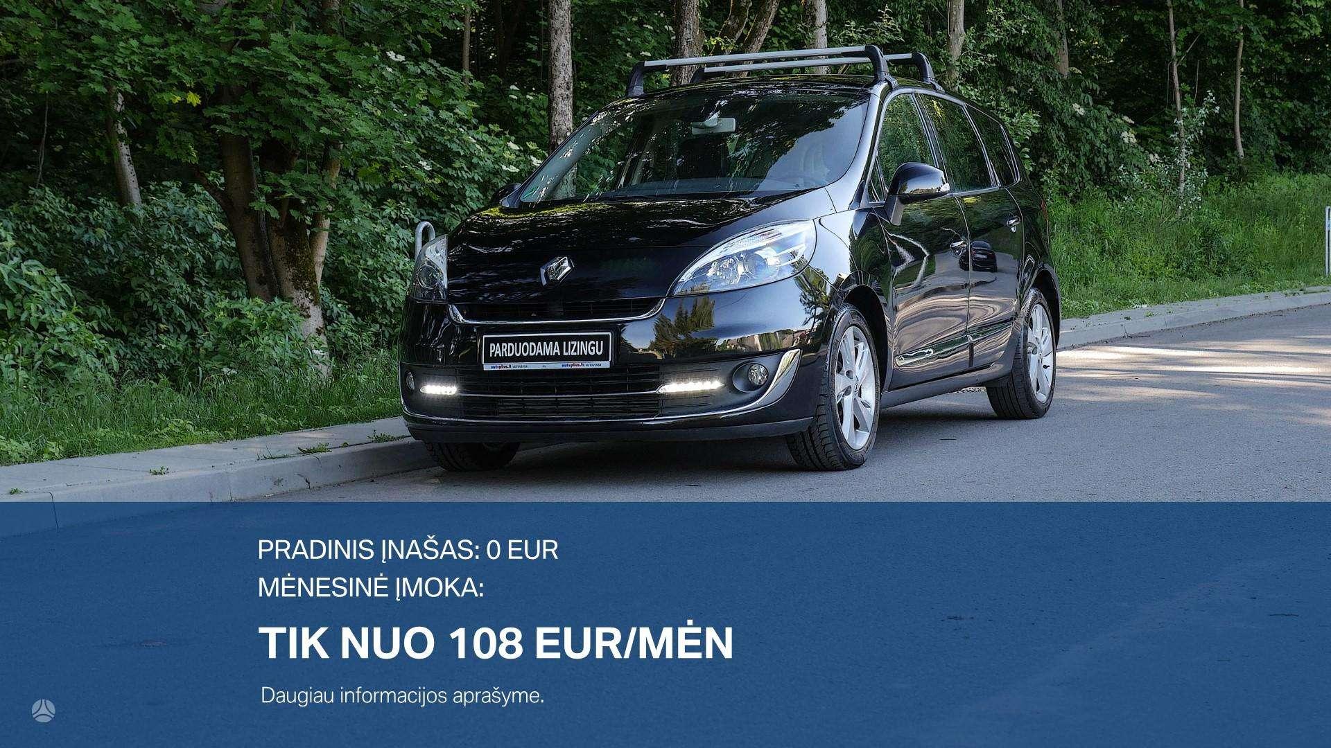 Renault Grand Scenic išsimokėtinai nuo 108Eur/Mėn su 3 mėnesių garantija