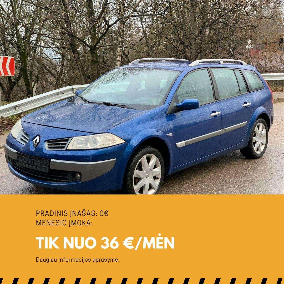 Renault Megane išsimokėtinai nuo 36Eur/Mėn su 3 mėnesių garantija