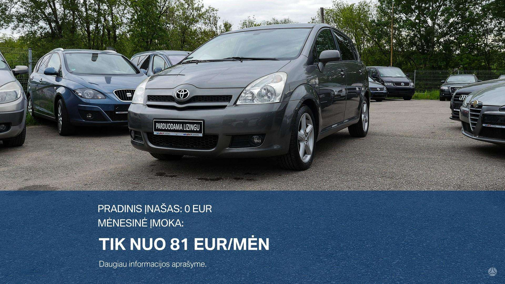 Toyota Corolla Verso išsimokėtinai nuo 81Eur/Mėn su 3 mėnesių garantija