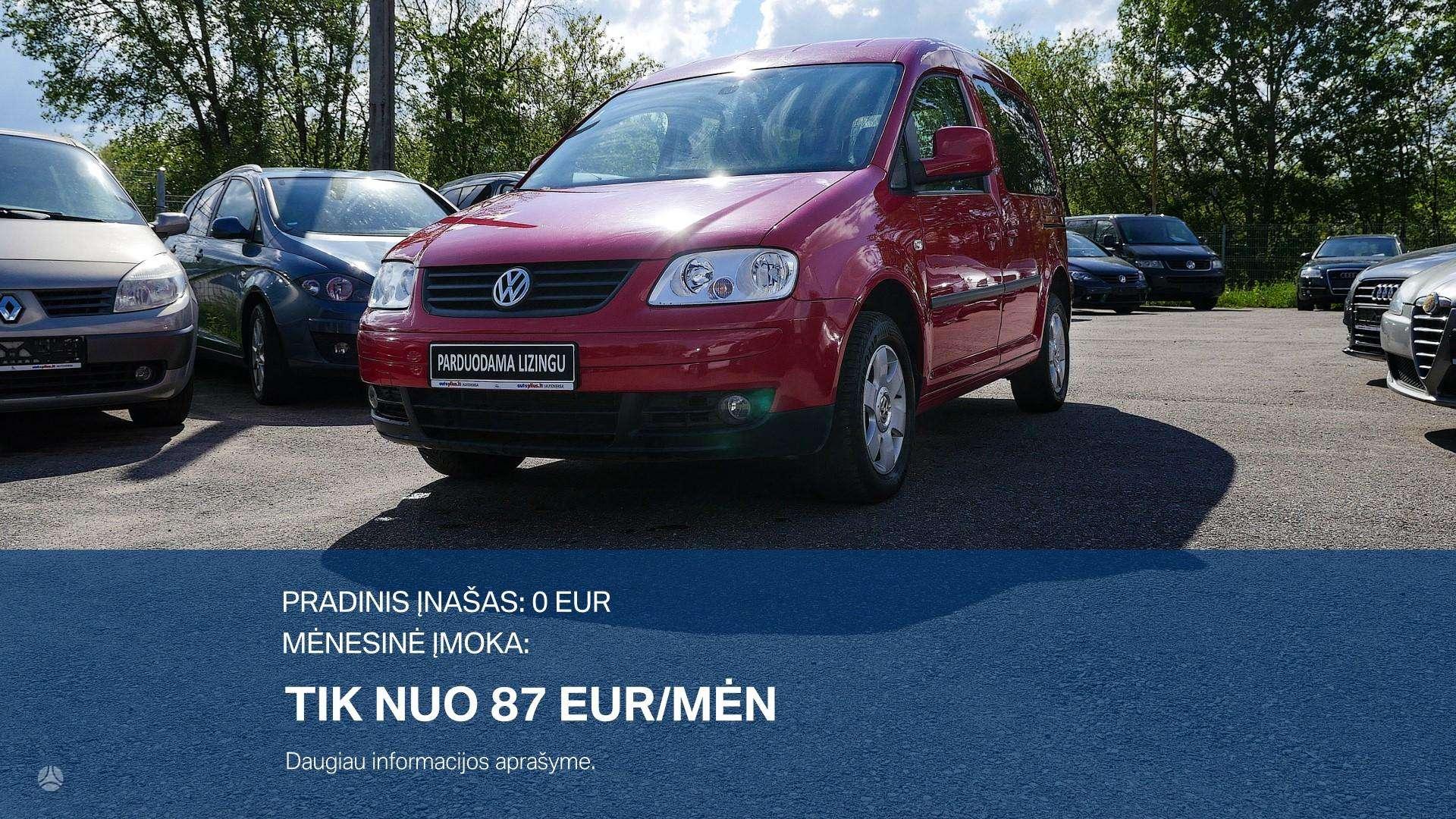 Volkswagen Caddy išsmokėtinai nuo 87Eur/Mėn su 3 mėnesių garantija