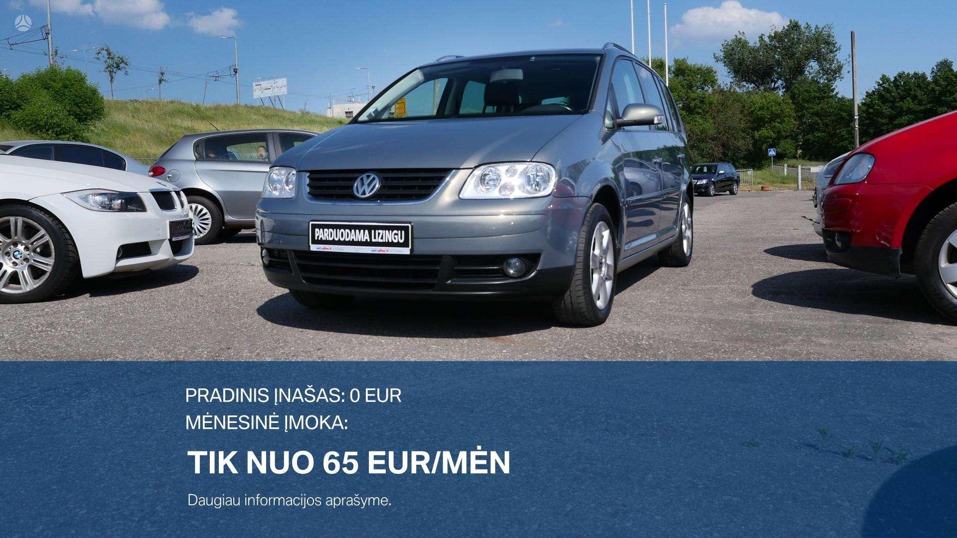 Volkswagen Touran išsimokėtinai nuo 65Eur/Mėn su 3 mėnesių garantija