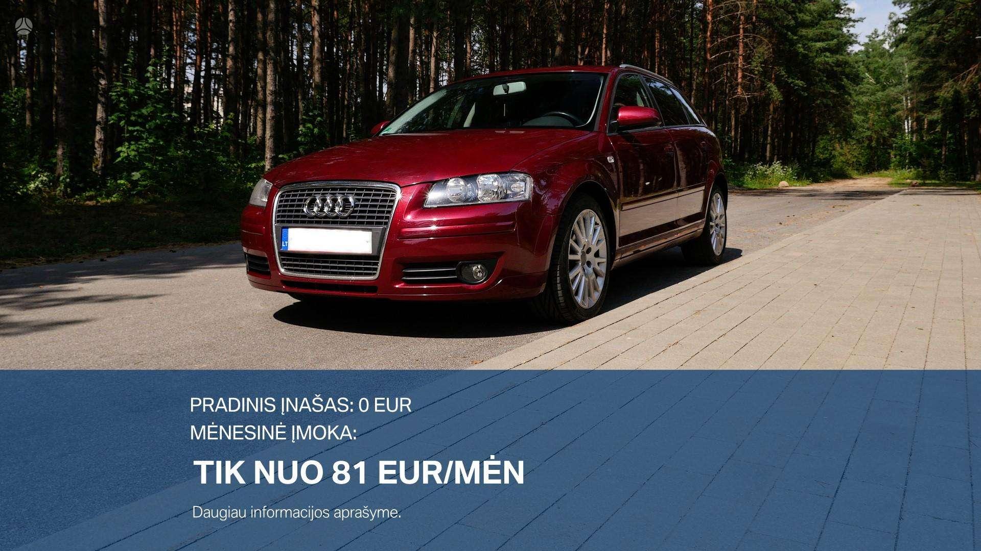 Audi A3 išsimokėtinai nuo 81Eur/Mėn su 3 mėnesių garantija