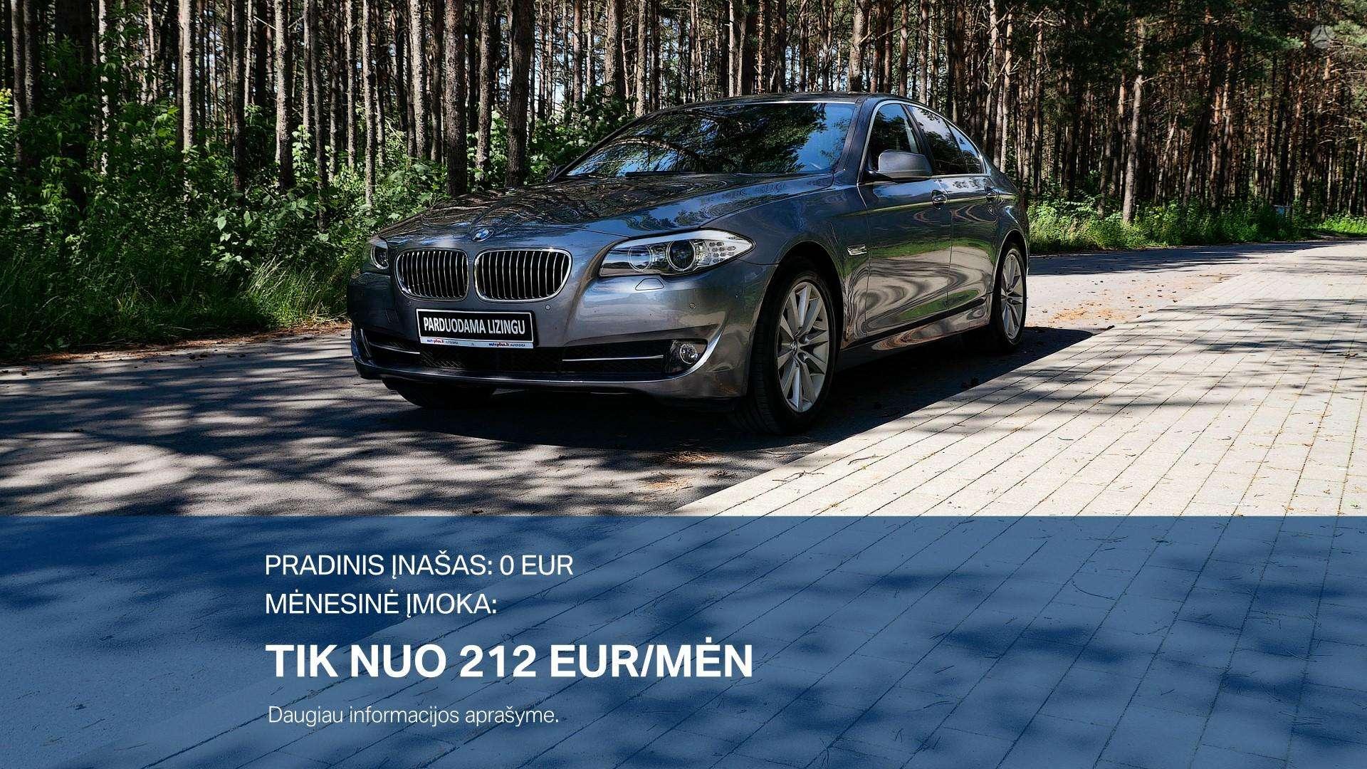 BMW 520 išsimokėtinai nuo 212Eur/Mėn su 3 mėnesių garantija
