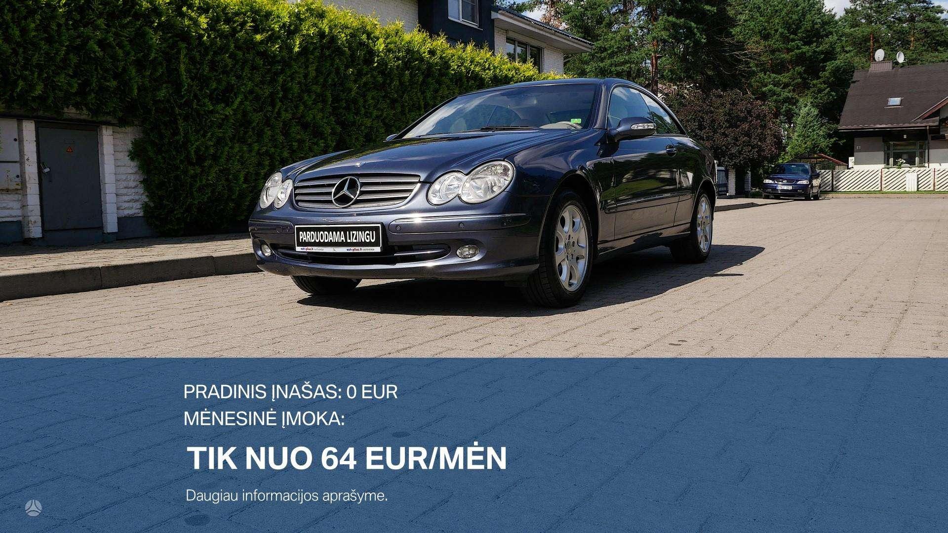 Mercedes-Benz CLK270 išsimokėtinai nuo 64Eur/Mėn su 3 mėnesių garantija