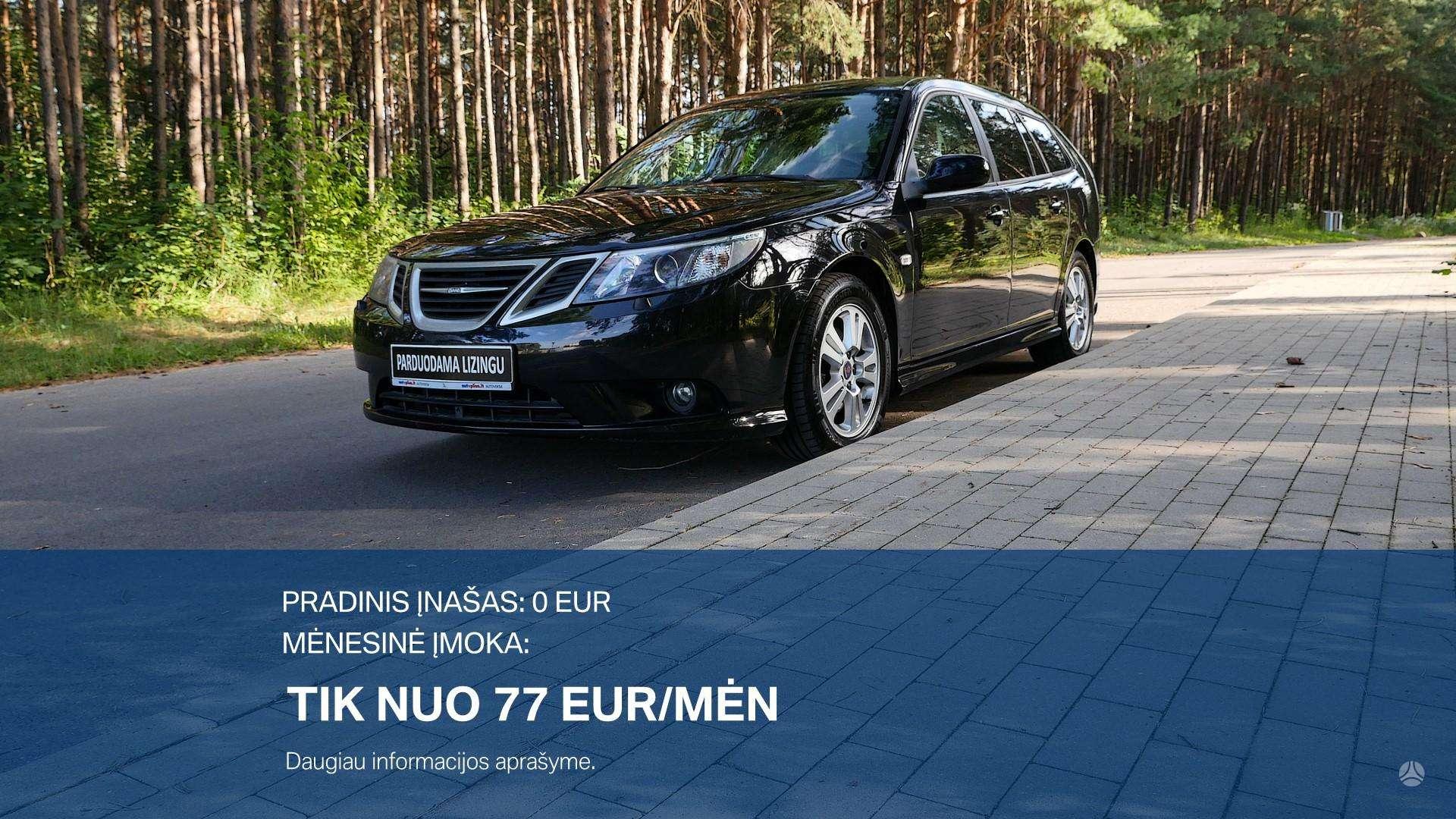 Saab 9-3 išsimokėtinai nuo 77Eur/Mėn su 3 mėnesių garantija