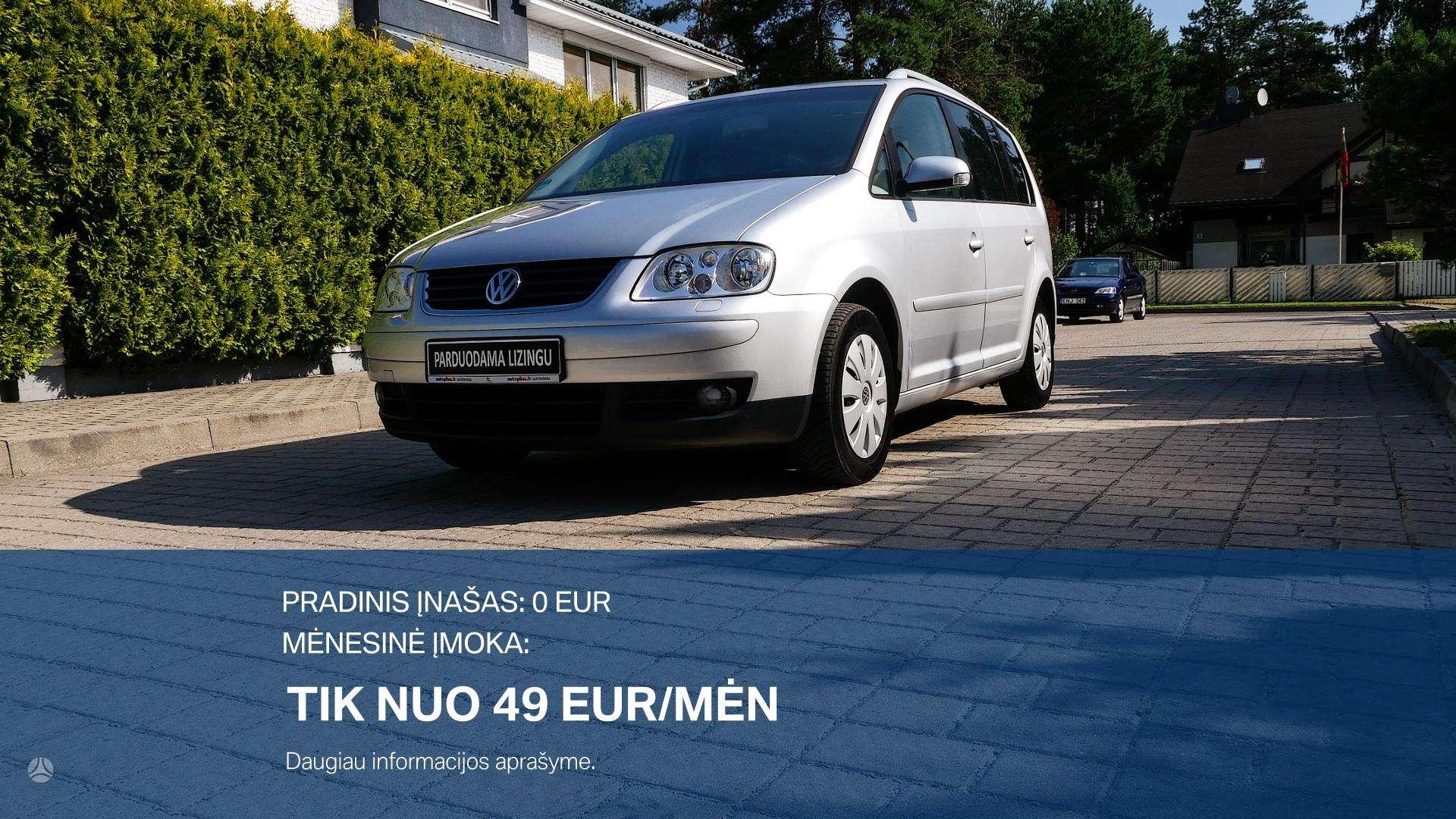Volkswagen Touran išsimokėtinai nuo 49Eur/Mėn su 3 mėnesių garantija