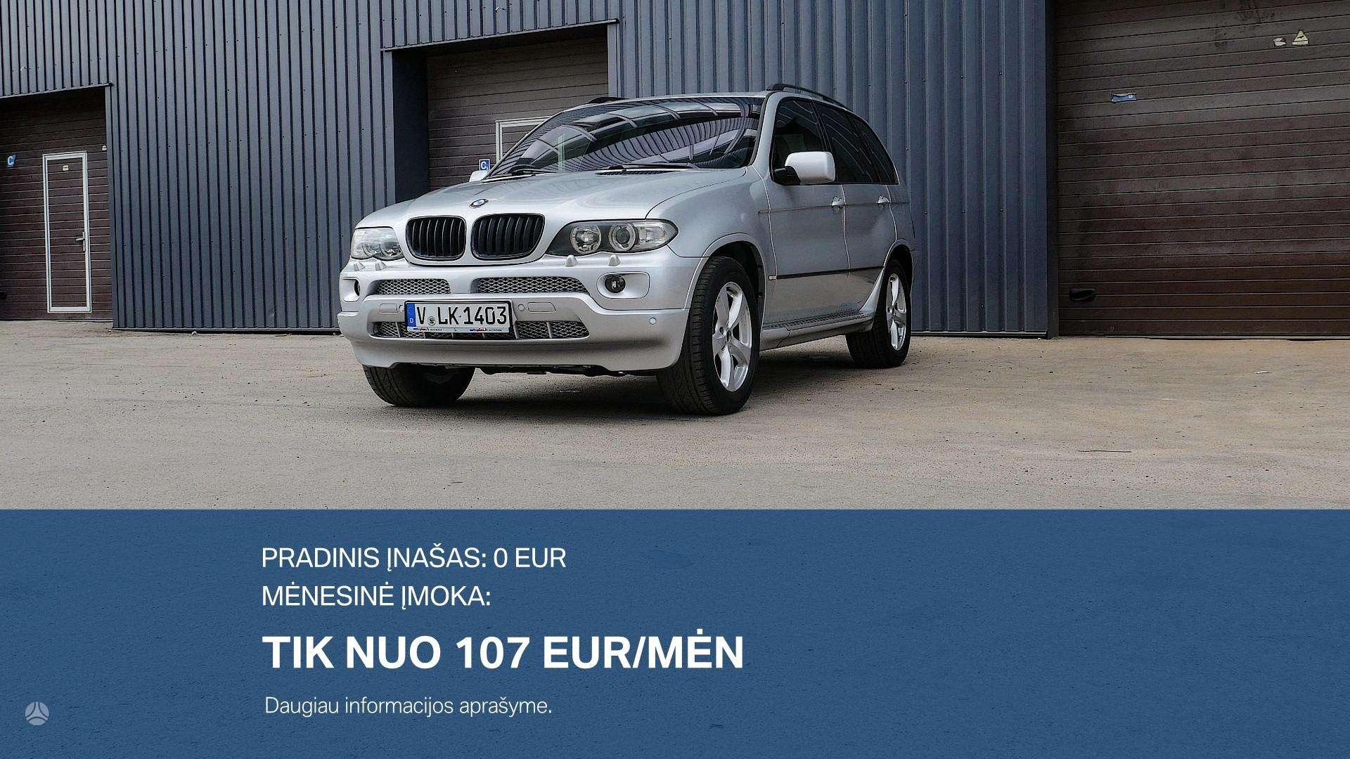 BMW X5 Išsimokėtinai nuo 107Eur/Mėn su 3 mėnesių garantiija
