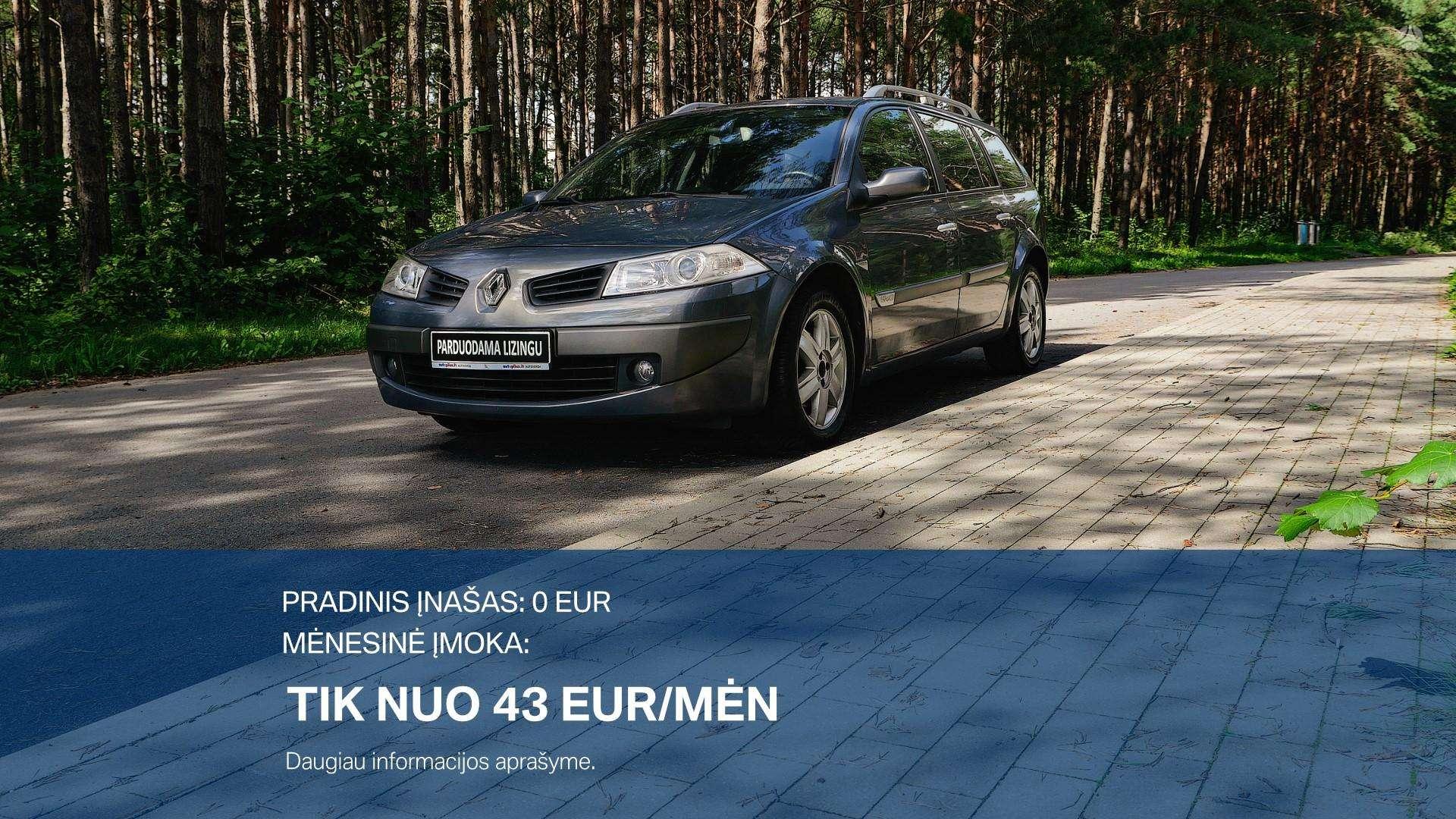 Renault Megane Išsimokėtinai nuo 43Eur/Mėn su 3 mėnesių garantija