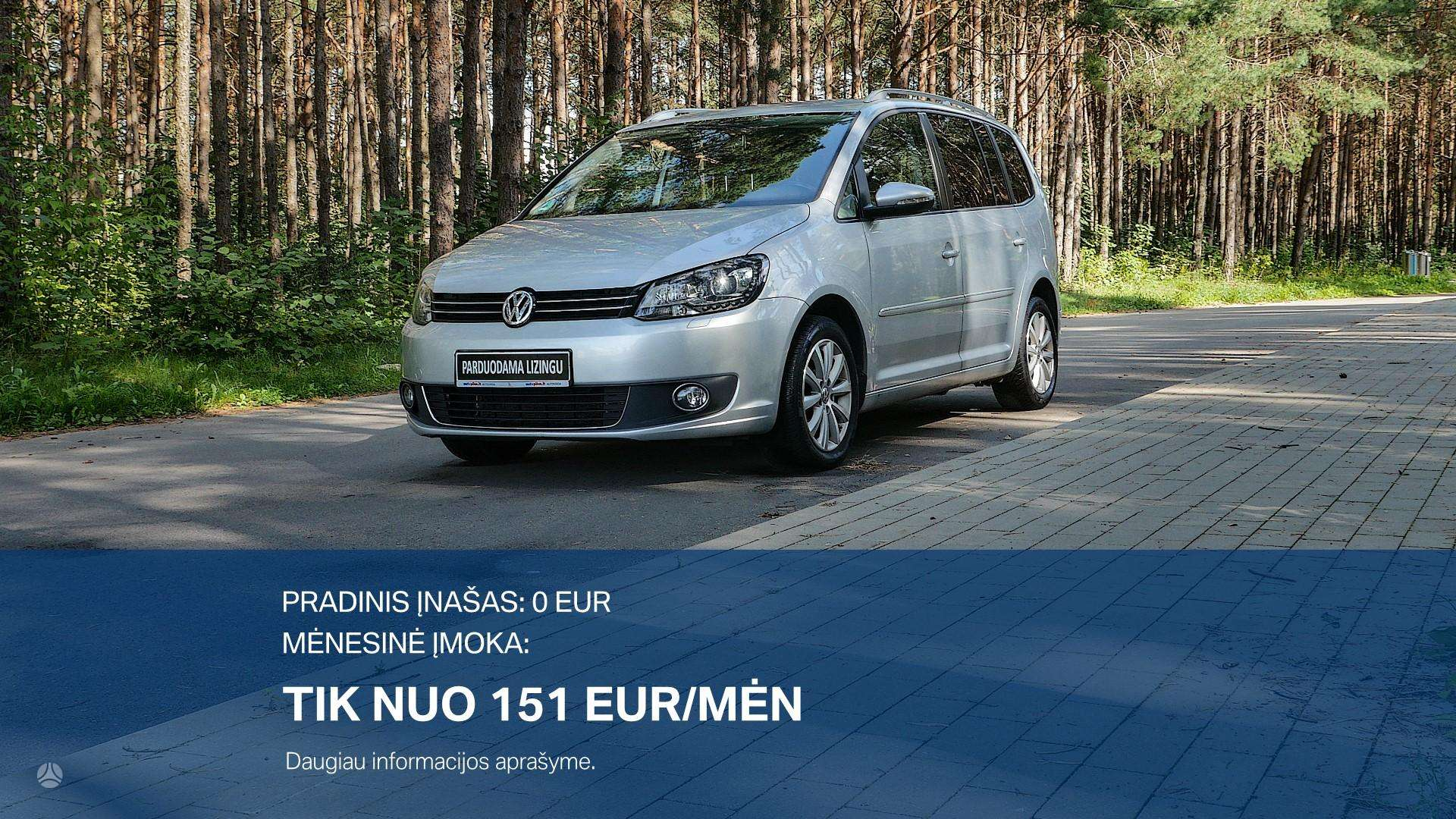Volkswagen Touran Išsimokėtinai nuo 151Eur/Mėn su 3 mėnesių garantija