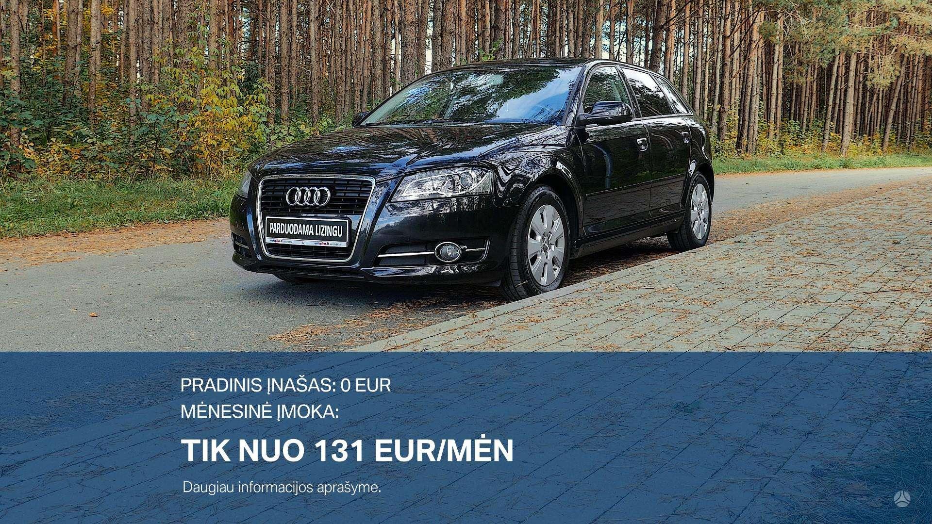 Audi A3 Išsimokėtinai nuo 131Eur/Mėn su 3 mėnesių garantija