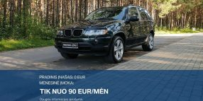 BMW X5 Išsimokėtinai nuo 90Eur/Mėn su 3 mėnesių garantija