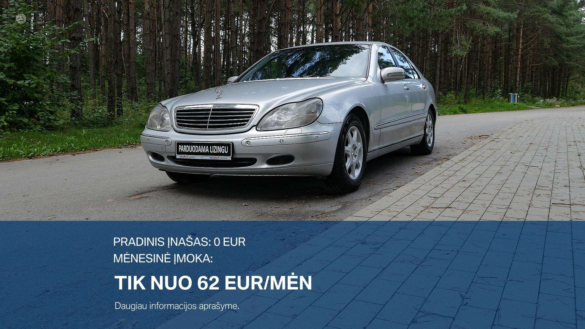 Mercedes-Benz S320 Išsimokėtinai nuo 62Eur/Mėn su 3 mėnesių garantija